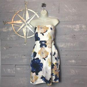 Gorgeous J Crew strapless floral dress